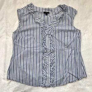 💫 Talbots | Blue & White Striped Tank Blouse 10P